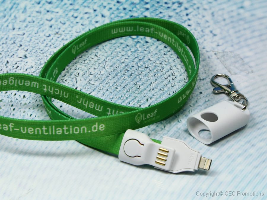 ladekabel lanyard 2 in 1 band kabel messe werbung