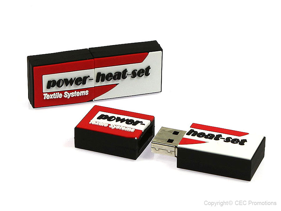 logo rechteckig, power-heat-set logo custom farbig usb-stick, CustomLogo, PVC