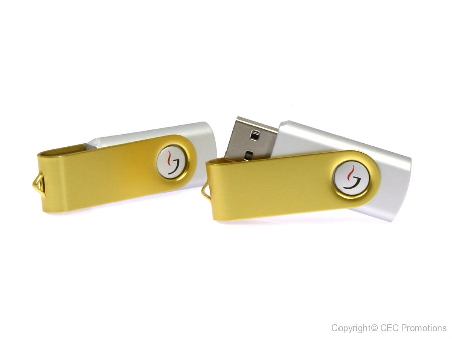 twister usb stick buegel gold silber