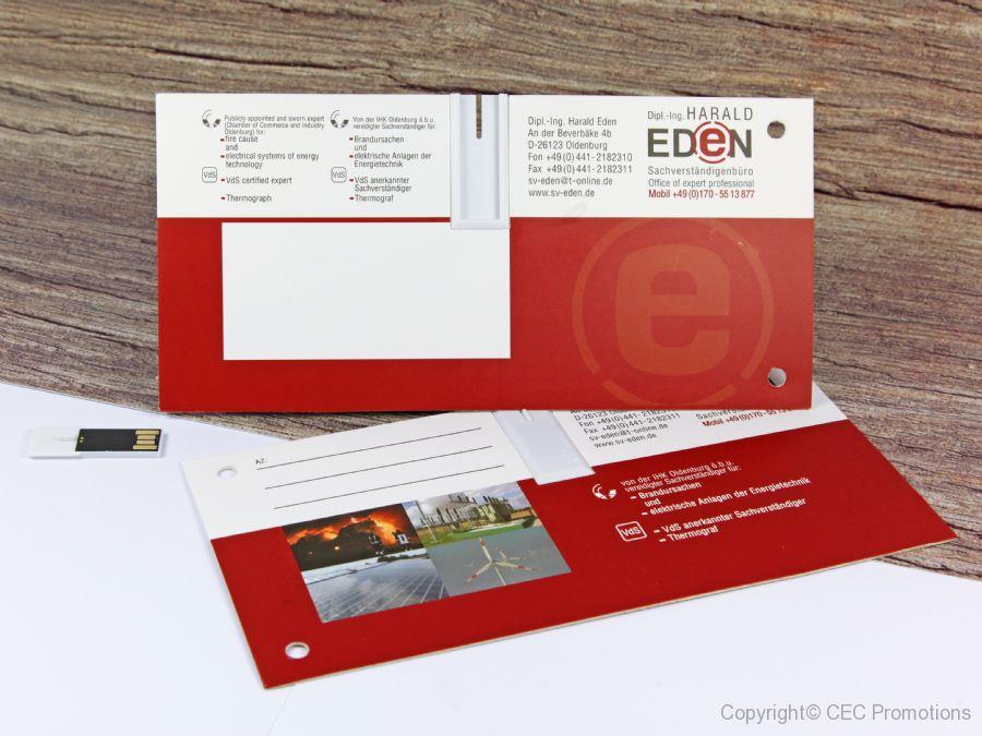USB-Stick Karte Mailing, integrierter USB in Papierkarte