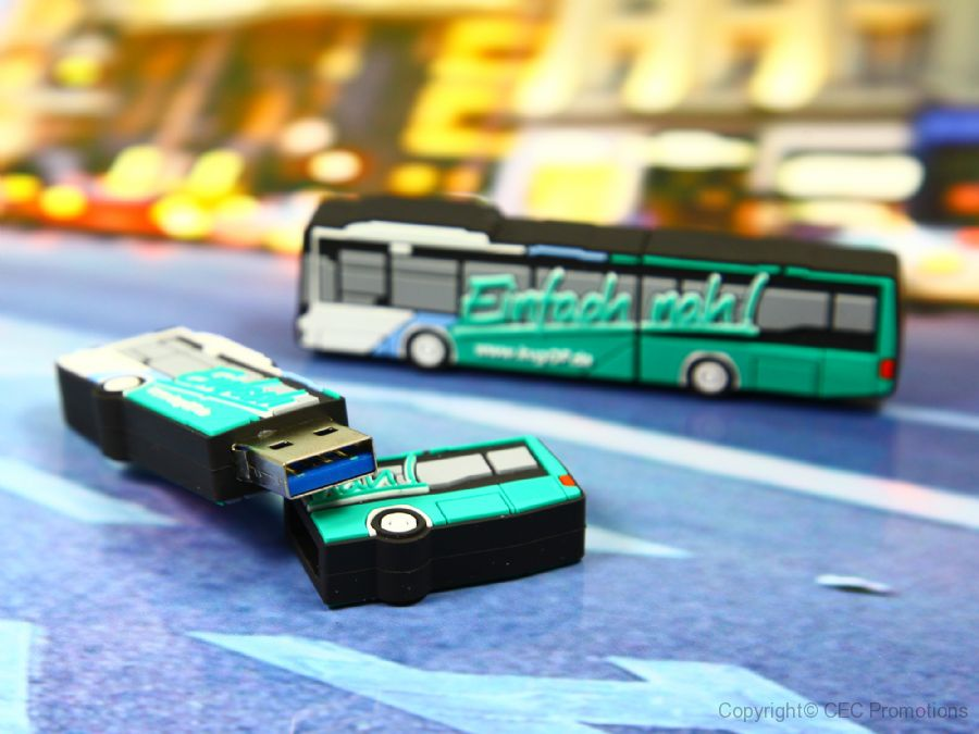 usb stick bus transport reisen werbung