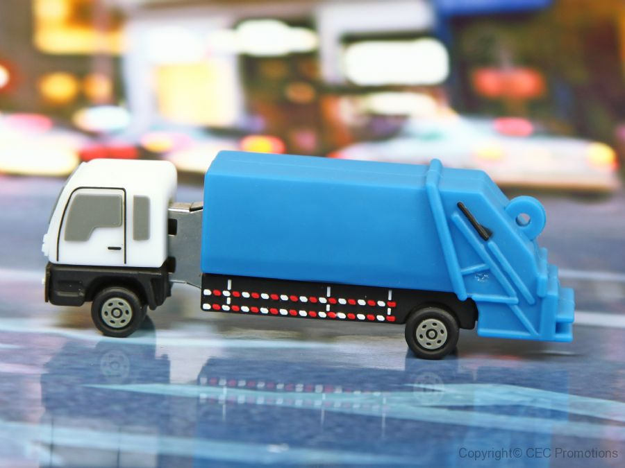 usb stick muellauto muellabfuhr lkw transport