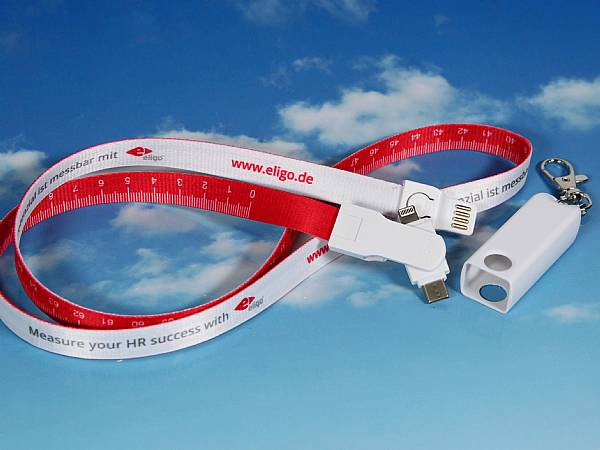 3 in 1 lanyard ladekabel band kabel werbung messe