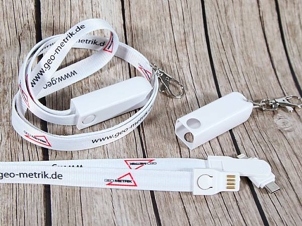 3 in 1 lanyard ladekabel kabel band werbung logo