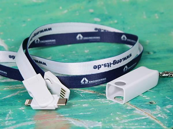 3 in 1 lanyard ladekabel kabel werbung logodruck