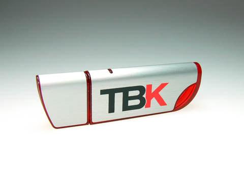 Alu-USB-Stick Logoaufdruck Werbeprodukt, deckel, Alu.04