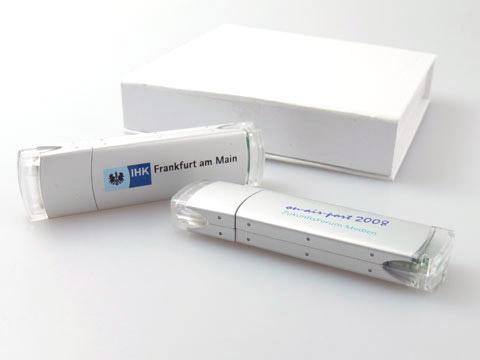 Alu-USB-Sticks bedruckt futuristisch modern, Alu.05