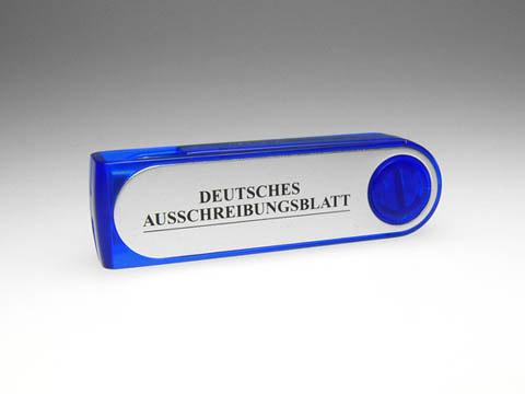 Alu USB-Stick blau mit Aufdruck, Alu.08