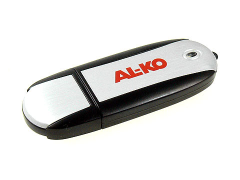 Aluminium-USB-Stick rot-bedruckt, Alu.03