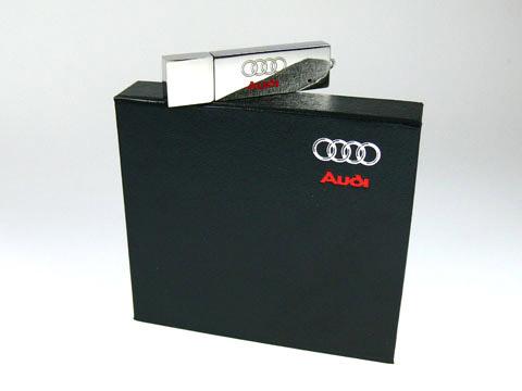 Audi USB-Stick u Geschenkbox bedruckt, Metall.04