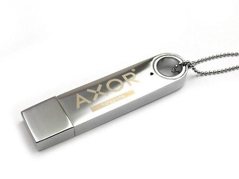 Axor Metall-12 USB-Stick hochglanz graviert, Metall.12