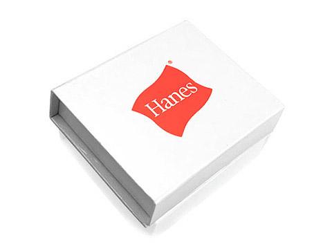 Bedruckte Geschenkverpackung Logo weiss, K03 Maxi Magnetbox