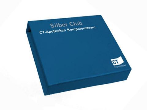 Blaue Geschenkverpackung individuell bedruckt, K01 Magnetklappbox