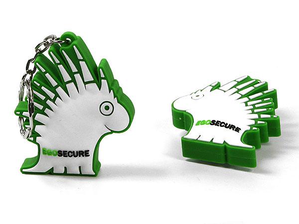 PVC Schlüsselanhänger Keychain key fob custom grün