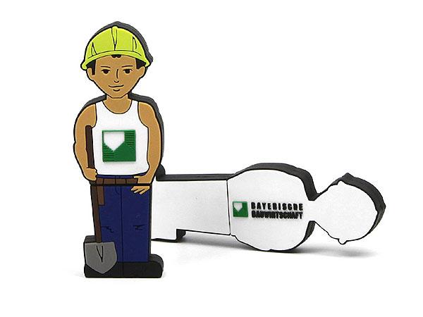Creative USB Stick Mensch Figur Bauarbeiter Bau