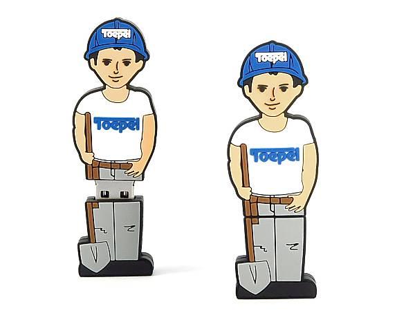 Creative USB Stick Männchen Mensch Bauarbeiter Arbeiter Logo Bau