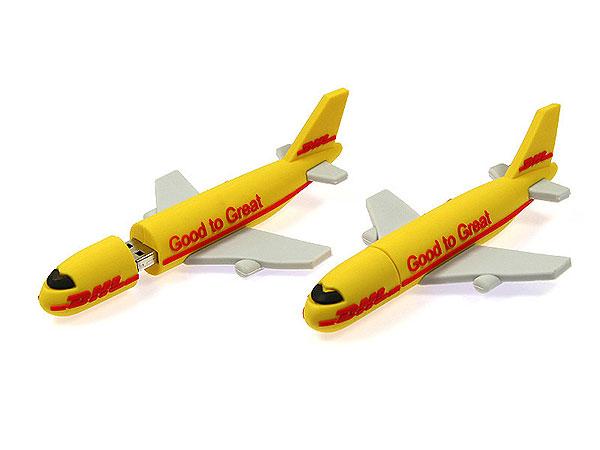 Flugzeug DHL gelb PVC Individuell custom, USB-Airplane.01