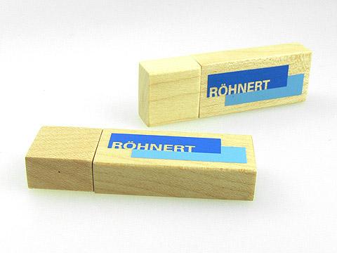 Echter Holz-USB-Stick hellbraun Logo-Aufdruck, deckel, Holz.01