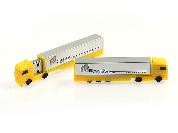 LKW truck gelb USB-Stick Transport Logistik, USB-Truck