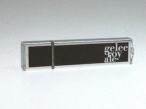 Gelee-Royale USB-Stick mit Aufdruck, Alu.07