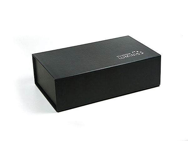 Geschenkbox Klappbox Luminis kl schwarz, Individuelle Klappbox