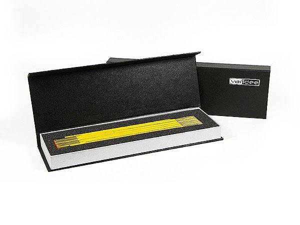Geschenkverpackung Zollstock schwarz, Individuelle Klappbox