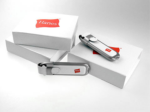 Hanes Leder-USB-Stick weiss Firmengeschenk, Leder.02