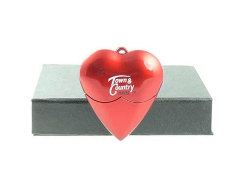 Herz-USB-Stick Heart bedruckt rot, USB-Heart
