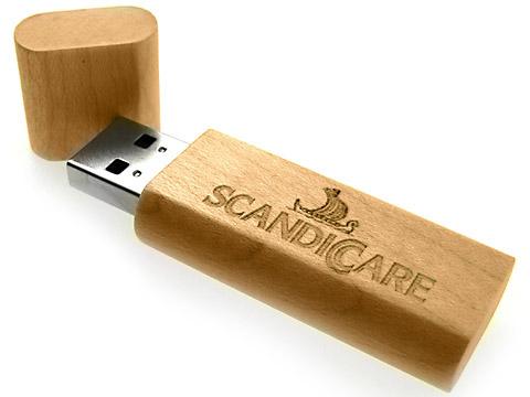 Holz-USB-Stick hochwertiges Werbegeschenk graviert, Holz.02