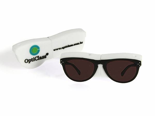 Individueller USB Stick sonderform Brille optiker optic logo