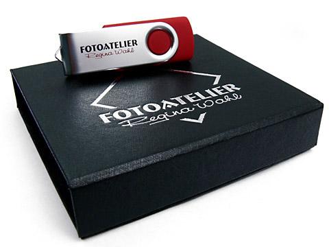 K01-Magentklappbox USB-Stick-Verpackung-schwarz, K01 Magnetklappbox