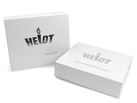K01 Magnetklappbox Silberfolien-Prägung weiss, K01 Magnetklappbox