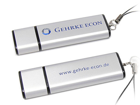 USB-Stick grau bedruckt, barato-iii, deckel