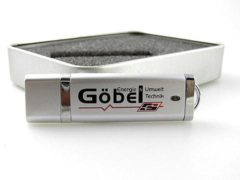 Kunststoff-USB-Stick-silber bedruckt Geschenk, Kunststoff.10
