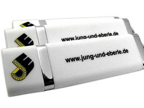 Kunststoff-USB-Stick Werbegeschenk Logo, Kunststoff.10
