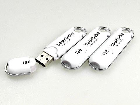 Kunststoff USB-Sticks bedruckt weiss, Kunststoff.02