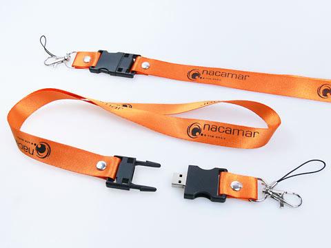 Lanyard Logo-Aufdruck Umhaengeband USB-Stick, USB-Lanyard