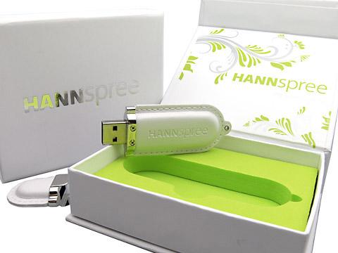 Leder-10 USB-Stick weiss mit Verpackung, Leder.10 digitaldruck
