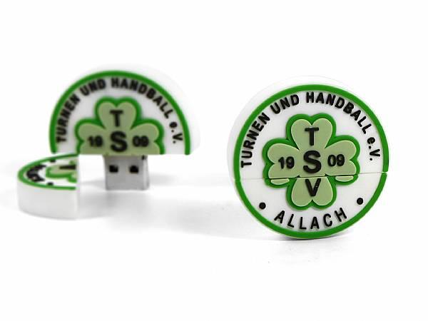 Logo USB Stick Rund badge sport verein stempel