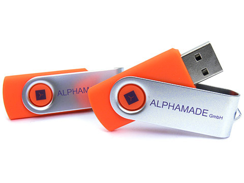 Metall-01 USB-Stick Werbeartikel klassisch orange, Metall.01
