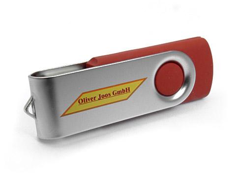 Metall-01 USB-Stick bedruckt klassisch rot, Metall.01
