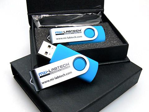 Metall-01 USB-Stick blau mit Logo-Aufdruck, Metall.01
