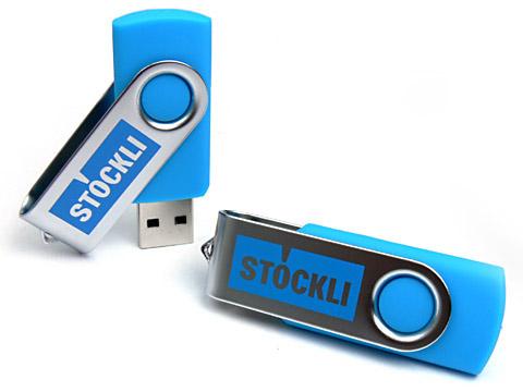 Metall-01 USB-Stick blau passend bedruckt, Metall.01