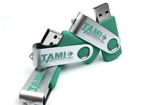 Metall-01 USB-Stick gruen bedruckt, Metall.01