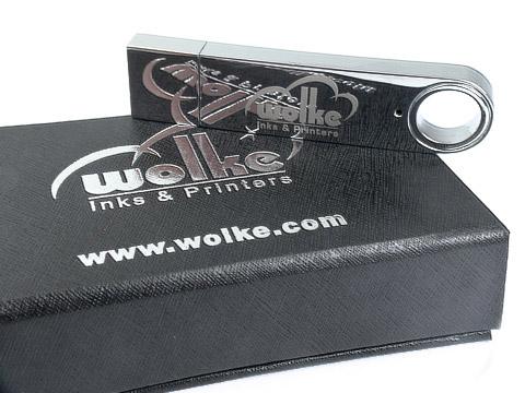 Metall-12 USB-Stick hochglanz wolke graviert, Metall.12