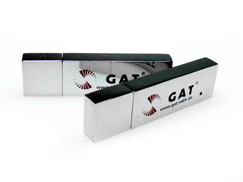 Metall-USB-Stick GAT bedruckt, Metall.04