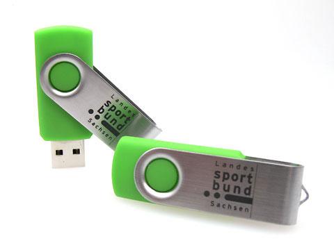 Metall-USB-Stick klassisch swing gruen, Metall.01
