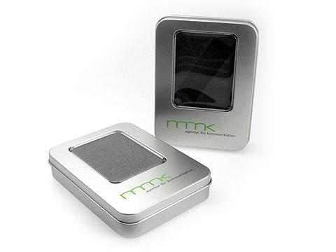 Metall-Verpackung USB Logoaufdruck, M01 Eckige Metallbox