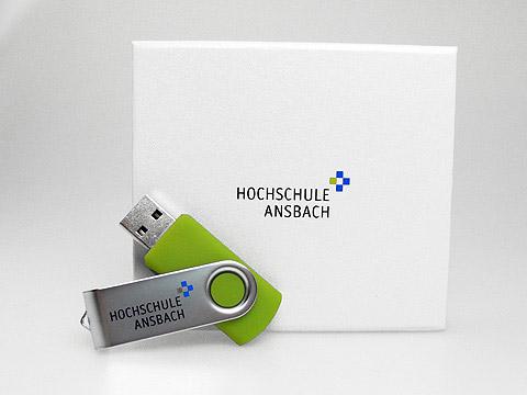 Metall swing USB-Stick gruen Verpackung, Metall.01