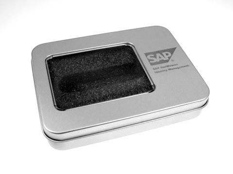 Metallbox Verpackung Geschenkbox Logo, M01 Eckige Metallbox